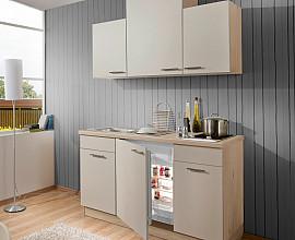 Kuhinjski blok Dallas 1, leseni del 152 cm + bela tehnika