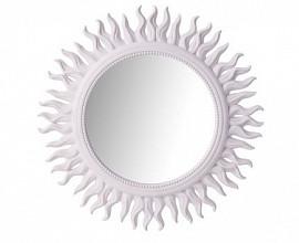 Ogledalo Augusta fi 53 cm Barva bela