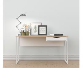Pisalna miza 66 Barva bela, hrast
