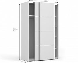 Omara Verona 2 vrata, 5 polic, 122 cm Barva bela