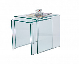 Klubska miza Glass 04 Duo Steklo