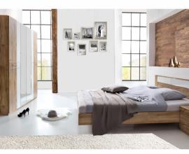 Komplet spalnica Marbella 180x200, Barva temen hrast, klasik