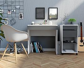 Pisalna miza 75 Barva belo siva