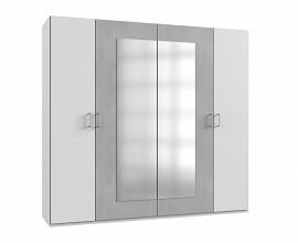 Omara Porto 4 klasična vrata, 225 cm Barva bela