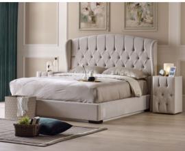 Postelja z dvižnim dnom in predalom Beatrice, 180x200 Barva sv rjava