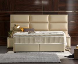 Postelja Bellagio + 2 nočni omarici, 180x200, Barva zlata