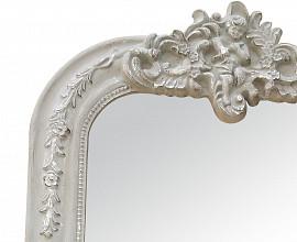 Ogledalo Venice 67x4x94 cm Barva bela mat
