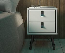 Nočna omarica Cordoba Barva bela