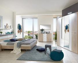 Komplet spalnica Cordoba 180x200, Barva hrast, klasik