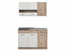 Kuhinjski blok Denver 120 cm , Barva sivi hrast, bela