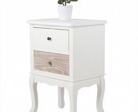 Nočna omarica Romantik 03 Barva bela,hrast