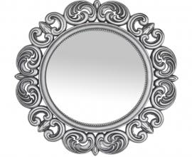 Ogledalo Avola fi 51 cm Barva srebrna