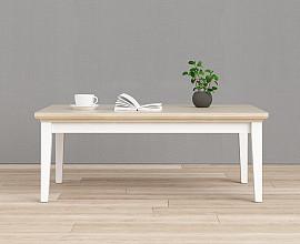 Klubska miza Florence Barva hrast bela