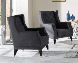 Fotelj Royal Barva siva / VZMETEN