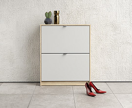 Omarica za čevlje Function 19 Barva hrast, bela