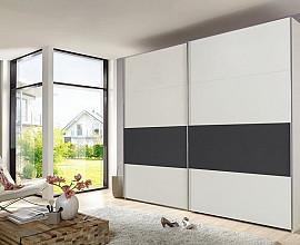 Omara Grande 2 vrata, 270 cm, Barva bela, grafit