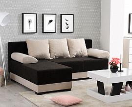 Sedežna garnitura Ina Barva črna, bež, leva ali desna postavitev