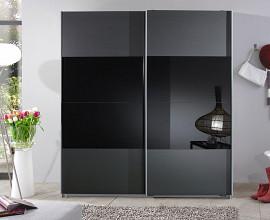 Omara Indiana 2 vrata 179 cm, Barva grafit, črna