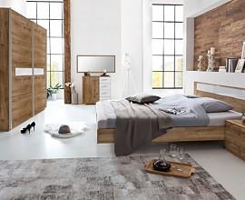 Komplet spalnica Kairo 180x200, Barva temen hrast