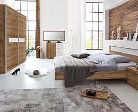 Komplet spalnica Kairo 160x200, Barva temen hrast