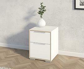 Nočna omarica Kalmar Barva bela, hrast
