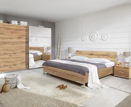 Komplet spalnica Tokyo 160x200, Barva zlati hrast