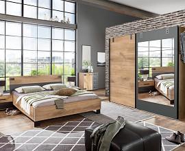 Komplet spalnica Colorado 160x200, Barva zlati hrast, drsna