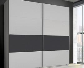 Omara Laguna 2 vrata, 225 cm, Barva bela, grafit