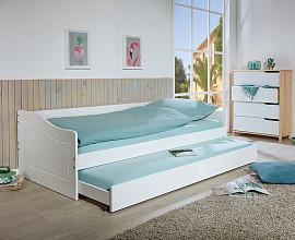 Posteljni okvir Laila 90x200, Barva bela