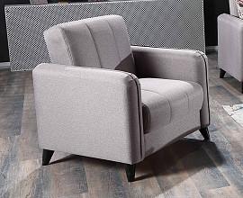 Fotelj Livorno Barva siva / VZMETEN