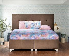 Komplet Postelja LORIO z dnom in vzmetnico 160x200 cm, Barva Kapučino