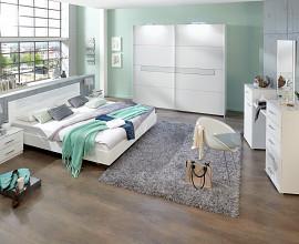 Komplet spalnica Madrid 160x200, Barva bela
