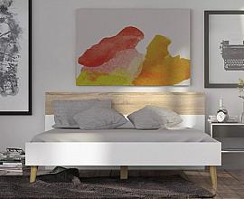 Posteljni okvir Malmo 160x200 Barva bela, hrast