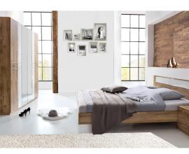 Komplet spalnica Marbella 160x200, Barva temen hrast, klasik