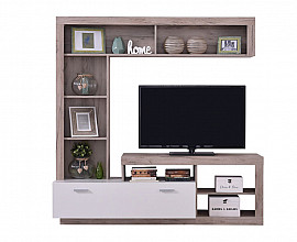 Dnevno sobni sestav Marte 01 Barva bela, sivi hrast