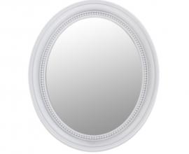 Ogledalo Lena 41.7x50.5 cm Barva Bela