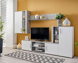 Dnevno sobni sestav Palermo Barva bela, beton