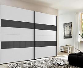 Omara Piano, 2 vrata, 270 cm, Barva bela, siva