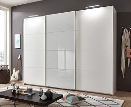 Omara Piano, 3 vrata, 270 cm, Barva bela, bela
