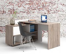Pisalna miza 68 barva truffle hrast, bela