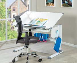 Pisalna miza Projekt, Barva bela
