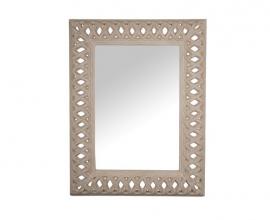 Ogledalo Ribera 97x123 cm Barva bež