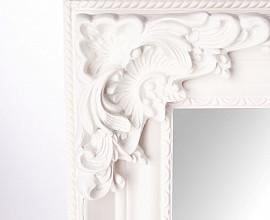 Ogledalo Roma 78x5x108 cm Barva bela mat