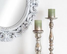 Ogledalo Pacino 88x69,5 cm Barva bela