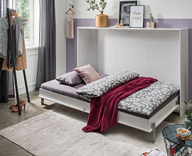 Stenska postelja Smart 90x200, Barva bela