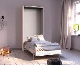 Stenska postelja Smart 01 90x200 , Barva bela