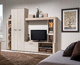 Dnevno sobni sestav Sofia 2 Barva sivi hrast, beli hrast