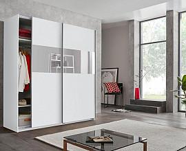 Omara Sydney 2 vrata, 225 cm, Barva bela, bela