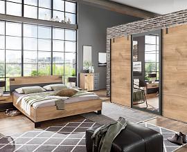 Komplet spalnica Texas 180x200, Barva zlati hrast, drsna