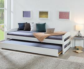 Posteljni okvir Ulla 90x200, Barva bela